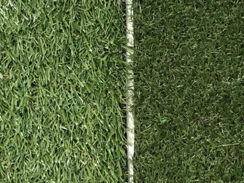 セリアとキャンドゥの人工芝100均比較写真