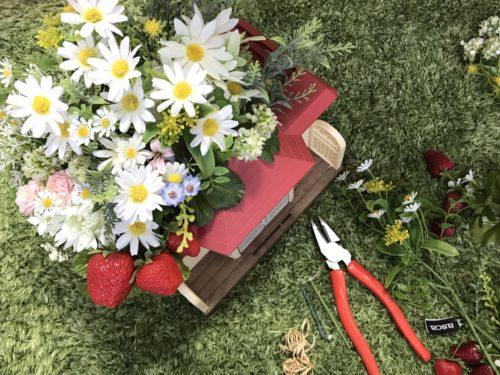 シルバニアファミリーと造花セリアのドライフォーム