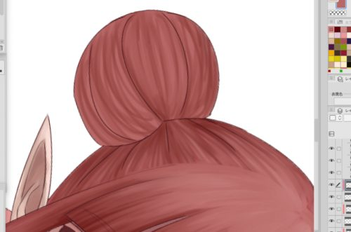 クリップスタジオでうつ伏せでスマホを触る女の子を描く